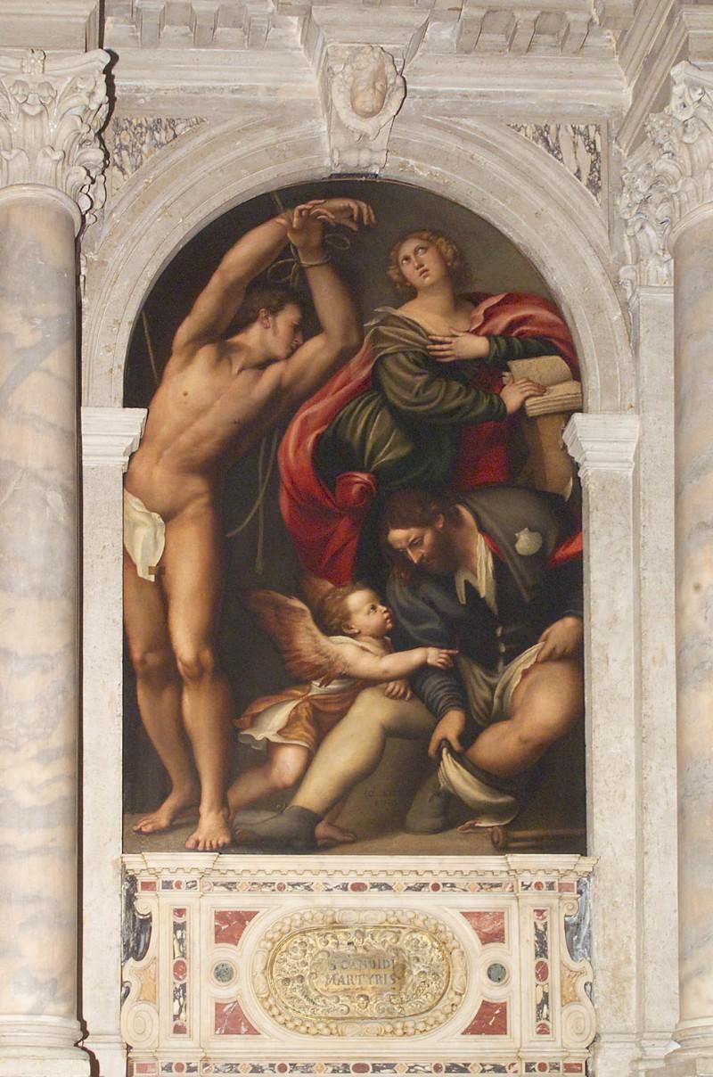 I Santi Sebastiano, Caterina e Rocco del Pordenone