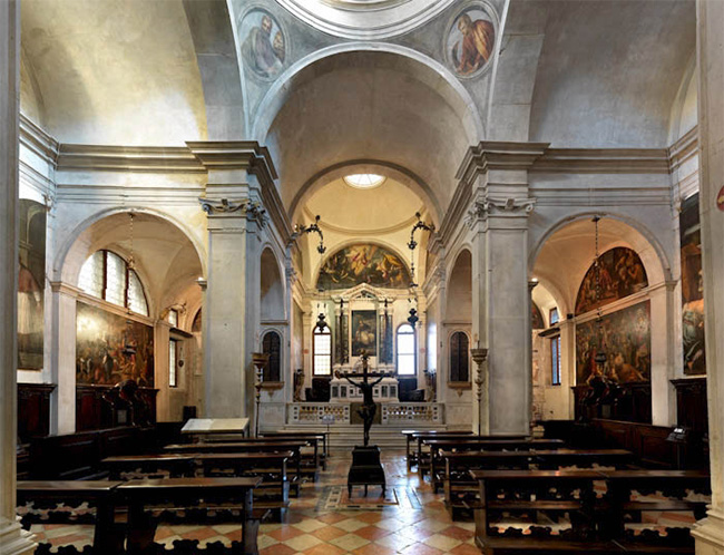 Interno della Chiesa di San Giovanni Elemosinario a Rialto
