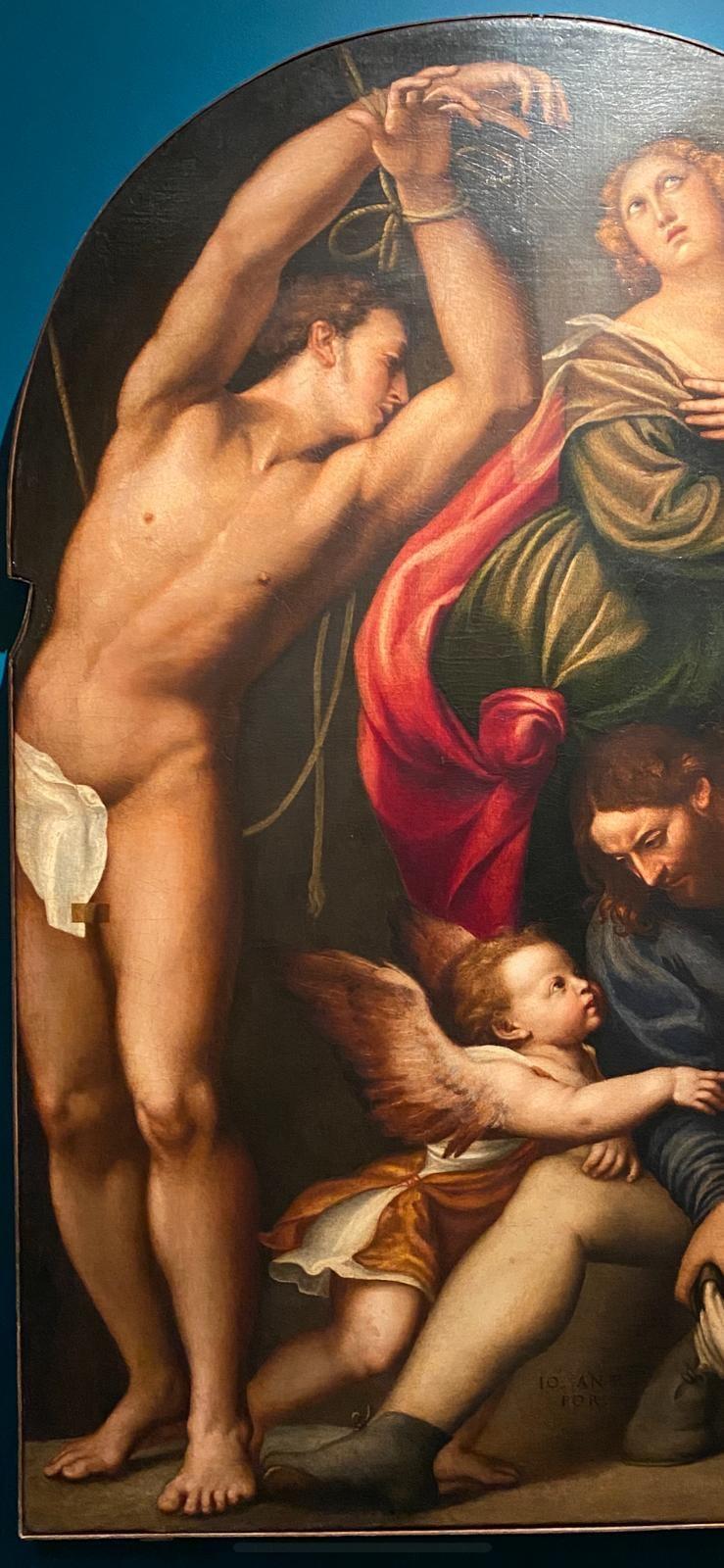 San Sebastiano (particolare), A. De Sacchis d. Il Pordenone, 1545-1550, Chiesa di San Giovanni Elemosinario