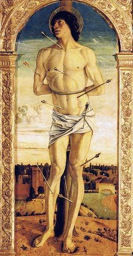 San Sebastiano, G. Bellini, 1464-1470, Basilica di San Giovanni e Paolo